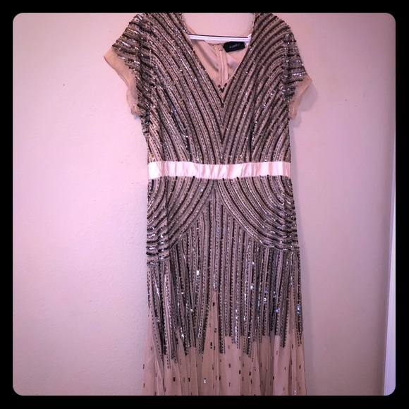 28207f5df1af Ashro Dresses & Skirts - Ashro - Hand-Beaded Evening Gown - Size 16W